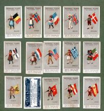 Collectible Trade set National Flags 1908 by Fry Chocolate